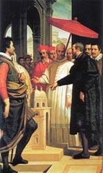Микеланджело представляет Папе Павлу IV макет купола собора Святого Петра. Доменико Крести, Музей Каза Буонаротти, Флоренция.